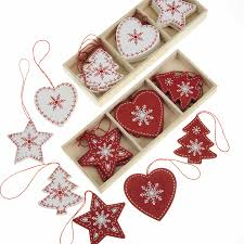 lots of box sets wooden christmas decorations shabby nordic chic