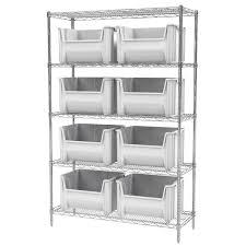 5 Shelf Wire Shelving Stackable Storage Bin Racks Pick Rack Systems Wire Shelving