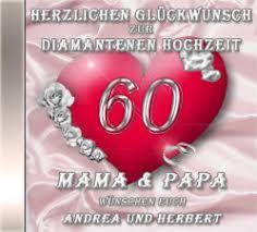 60 hochzeitstag geschenke die diamanthochzeits cd persönliche geschenke zur diamantenen
