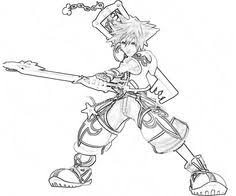 kingdom hearts coloring pages coloring book pagesmore pins