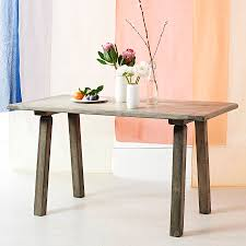 Oak Dining Table Uk Bleached Oak Dining Table Desk By Interiors