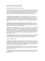 how to write a profile feature article news interview