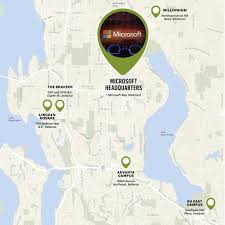 Map Of Lake Washington by Office 180 Microsoft U0027s Redmond Campus Isn U0027t Getting The Big