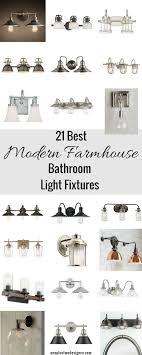 modern farmhouse bathroom lighting 21 best modern farmhouse inspired bathroom vanity lights