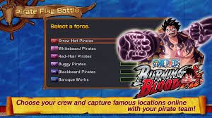Burning Red Flag New Online Mode One Piece Burning Blood Pirate Flag Battle