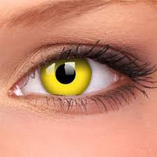 yellow goblin halloween contact lenses good quality colored
