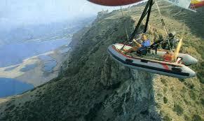 gommone volante da biella fino ad assisi 600km in volo su di un paramotore