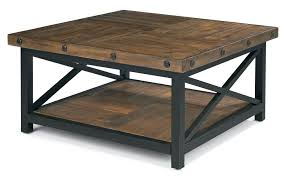 Small Coffee Table by Flexsteel Carpenter Square Cocktail Table With Metal Base And Wood