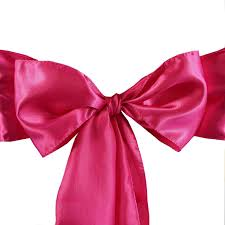 satin chair sashes 5pcs fushia satin chair sashes tie bows catering wedding party