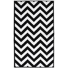 amazon com black chevron striped rug 2 foot 7 inch x 7 foot 10