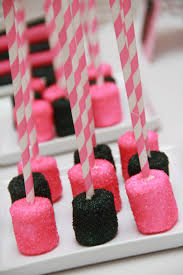 Baby Shower Barbie by Pink U0026 Black Chocolate Covered Marshmallows Pink Zebra Party