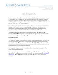 cover letter for medical field cover letter sample research assistant position