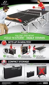 eastpoint sports table tennis table amazon com eastpoint sports 1 1 33725 ds easy set up table tennis