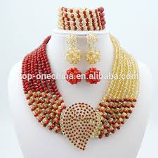 beads wedding necklace images Fashion nigerian beads necklaces bracelet earrings african beads jpg