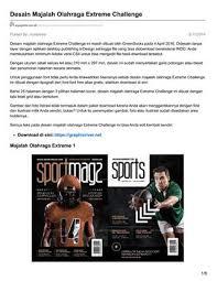 download desain majalah ayuprint co id desain majalah olahraga extreme challenge by masbadar