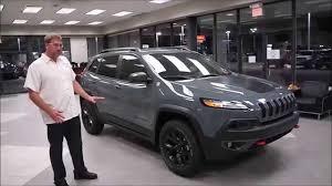 gray jeep cherokee 2015 jeep cherokee trailhawk walk around review in oklahoma city