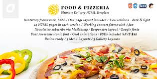 food u0026 pizzeria ultimate delivery html5 template by ignitionthemes