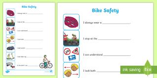 safety worksheet cycling safety worksheet sheet