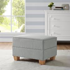 Baby Ottoman Dorel Living Baby Relax Brennan Upholstered Ottoman Gray