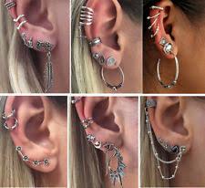 cuff earrings with chain ear cuff chain earrings ebay
