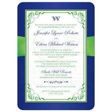 Royal Blue Wedding Invitation Cards Wedding Invitation Royal Blue Lime Green Floral Printed