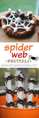 halloween spider and web pretzels shugary sweets