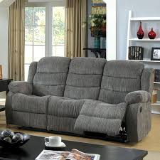 Chenille Reclining Sofa Furniture Of America Aurese Chenille Reclining Sofa Free