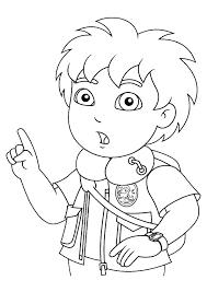 go diego go coloring pages printable images kids aim