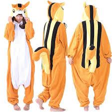 ss newest cosplay anime orange squirrels onesie halloween costumes