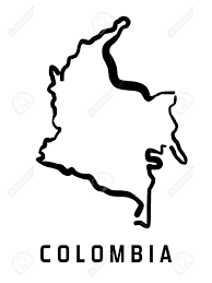 colombia map vector colombia map outline smooth simplified country shape map vector