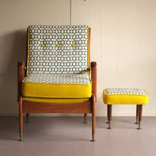 retro chair and ottoman daily imprint textile designer bec duff for the home pinterest