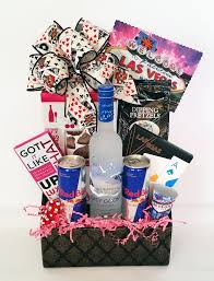 las vegas gift baskets out party weekend las vegas style gift basket just