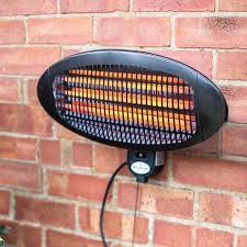 la hacienda wall mounted electric heater wyevale garden centres
