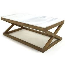 Coffee Tables Rustic Wood Brexi Coffee Table Rustic Wooden Base And Marble Top Home