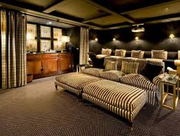 perfect home theater awesome home theater decor with red walls and bar idea