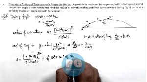 16 physics circular motion curvature radius of trajectory of