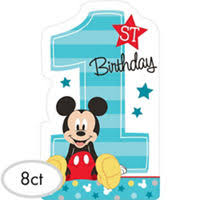 baby mickey 1st birthday mickey mouse 1st birthday party supplies party city