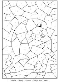 color numbers coloring pages colour printable by number