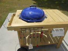 how to build a weber grill table weber grill table diy how to build a picnic table with built in