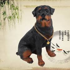 free shipping rottweiler ornaments garden ornaments