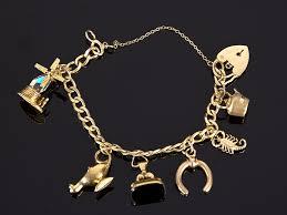 charms bracelet online images 9 carat yellow gold 6 charms bracelet parade antiques shop for jpg