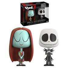 the nightmare before and sally vynl figure 2 pack
