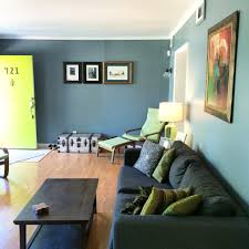 blue living room green door behr paint 740f 4 dark storm cloud