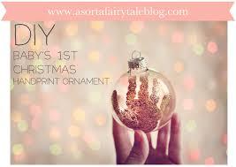 a sorta fairytale baby s 1st handprint ornament take 2