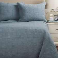 Dusty Blue Duvet Cover Artisan De Luxe Stonewashed Diamond Quilt Set King Save 30