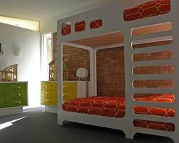 Amazing Kids Bedroom Designs With Exposed Brick Walls Rilane - The brick bunk beds