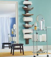 image of a free standing shagreen towel rack sherrees bathroom