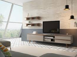 aspen wood wall aspen modern tv sideboard with drawers in white sand or taupe