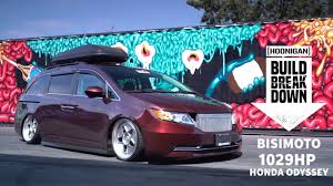 slammed honda odyssey the hoonigan crew and bisimoto prove the fix for uncool is more