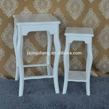 Modern Wood Planter by Modern High Quality Set Of 2 Flower Stand White Wood Planter
